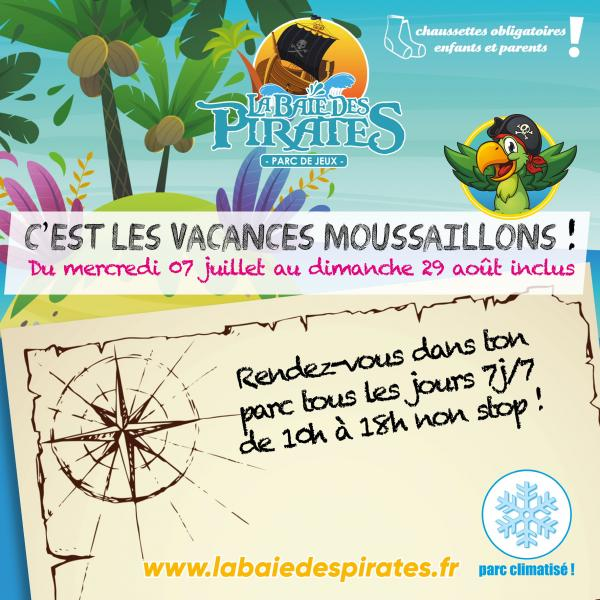 c'est les vacances d'été moussaillons ! rendez-vous à la baie des pirates lyon craponne !